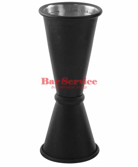 Джиггер барный 15-30-45 мл, нерж сталь с покрытием чёрный The Bars в Хабаровске