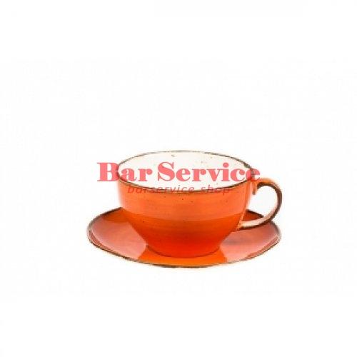 Чашка с блюдцем 375 мл Orange Sky Fusion в Хабаровске