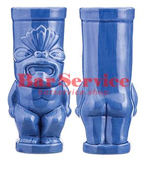 """Стакан д/коктейлей """"Тики"""";керамика 450мл,  голуб. в Хабаровске"""