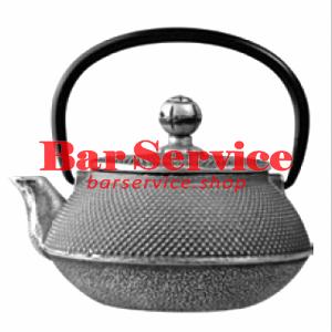 Чайник с ситечком; чугун; 650мл; D=8.7,H=9.4,L=14.5см черный в Хабаровске