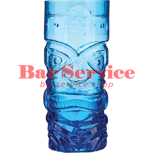 Стакан д/коктейлей, стекло «Тики» синий в Хабаровске