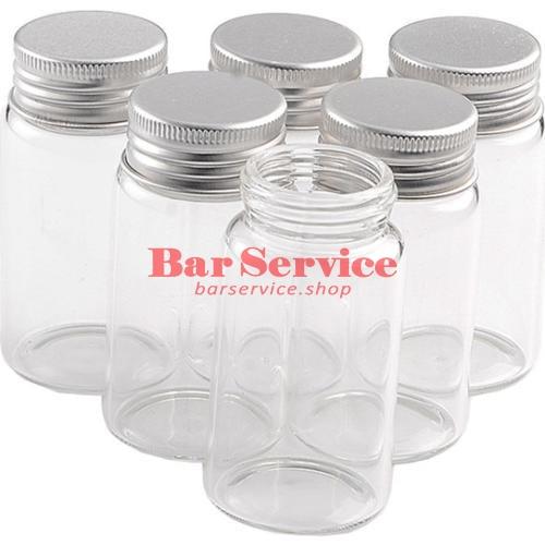 Бутылка прозрачная с алюминиевой крышкой 220мл 5,9*11,2см  в Хабаровске