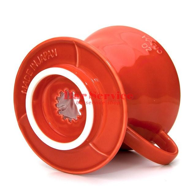 Hario VDC-02R. Воронка керамическая красная. 1-4 чашки в Хабаровске